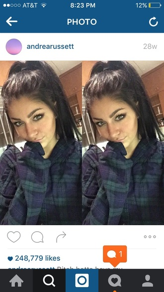 shirt andrea russett flannel cozy plaid plaid shirt green blue blue flannel green flannel blue and green flannel tumblr style fashion lazy day winter outfits fall outfits