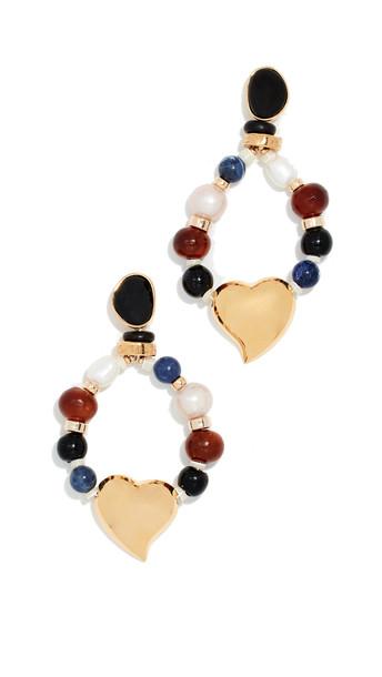 Lizzie Fortunato Candy Heart Earrings in multi