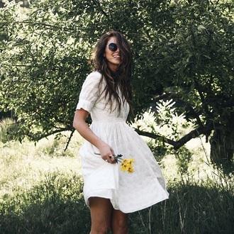 dress white dress sundress