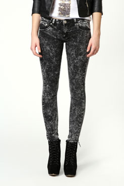 Lulu Acid Wash Jeans at boohoo.com