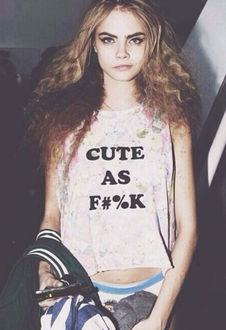 top summer outfits beach summer top cute girly cara delevingne clothes hipster boho quote on it