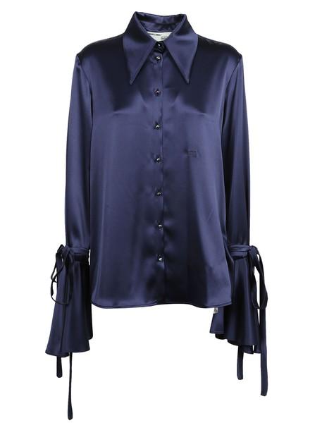 Off-White shirt bow white blue top