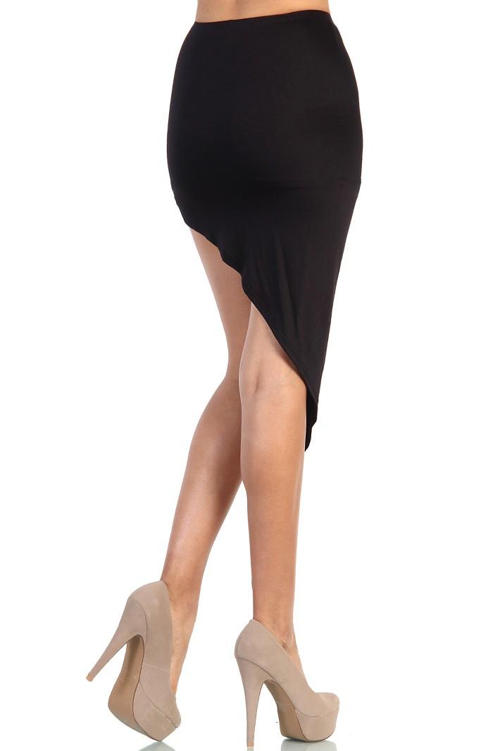 Asymmetrical Skirt - Black