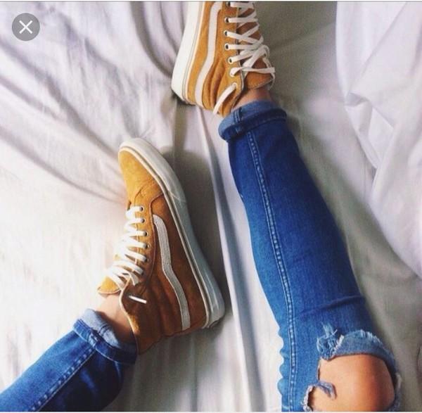 8a9e59b394 Vans Sk8-Hi Amber Gold Womens Skate Shoes