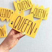 phone cover,queen,crown,yellow,iphone cover,iphone case,iphone 5s,yeahbunny