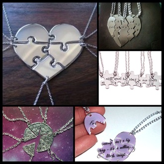 jewels 5 piece friends silver jewelry
