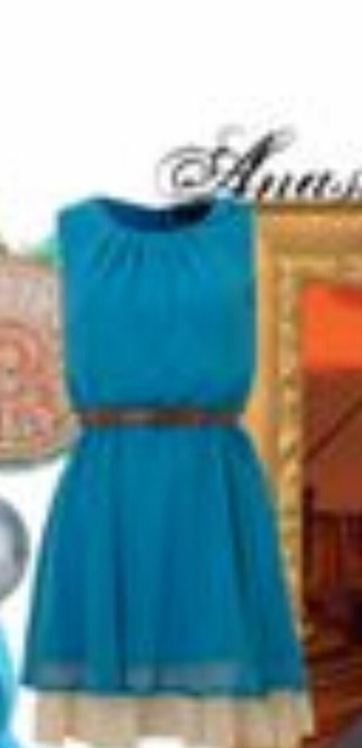 dress turquoise bleu blue dress beige jupons robe