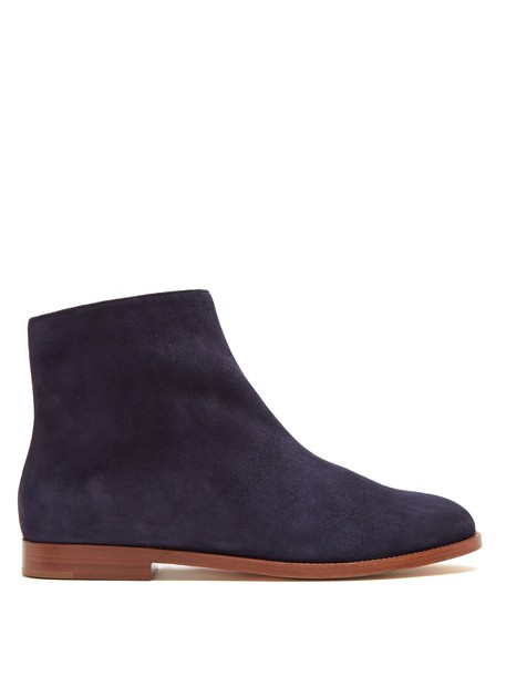 Mansur Gavriel suede ankle boots ankle boots suede navy shoes