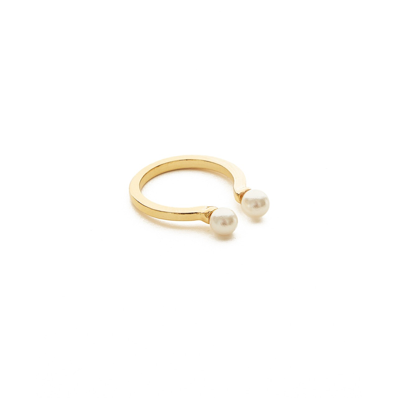 Open Double Pearl Ring