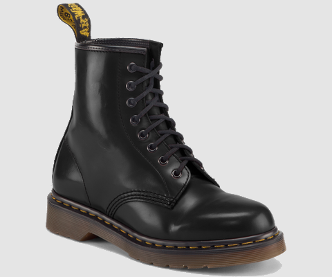 Dr Martens 1460 BLACK MILLED SMOOTH - Doc Martens Boots and Shoes