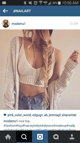 top knit shirt cardigan