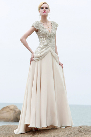 dress evening dress ivory dress a-line wedding dresses elliot claire london