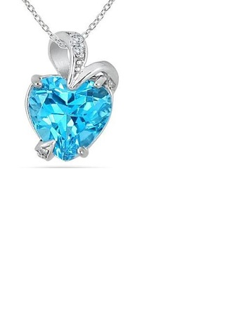 jewels heart necklace pendant blue heart not jewels