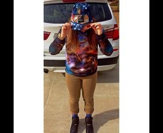 hat galaxy print snapback supreme trill sweatshirt jordans sweater jeans dope kush new era