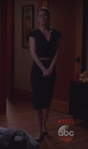 dress,black,meredith grey,grey's anatomy,ellen pompeo