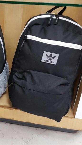 bag adidas backpack adidasbackpack black and white
