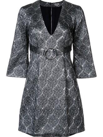 dress mini dress mini women silk grey metallic