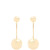 Sphere drop gold-plated earrings