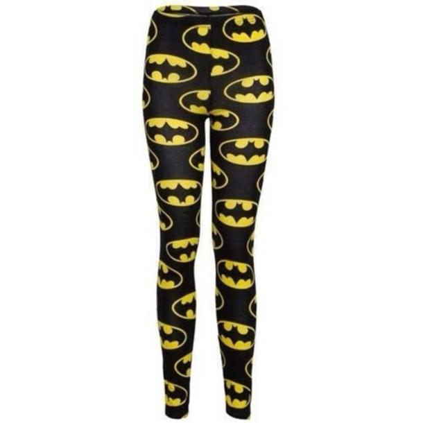 pants batman leggings yellow black shirt