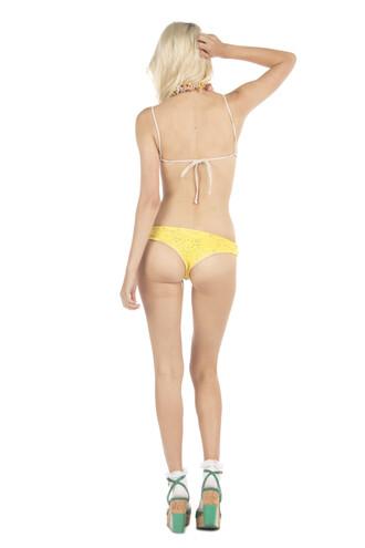 swimwear bikini bottoms cheeky lolli swimwear yellow bikiniluxe