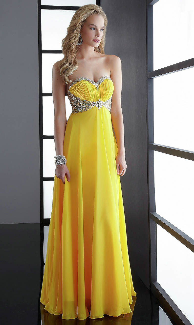 Ruched Embellished Bodice Long Strapless Sweetheart Empire Yellow Prom Dress,Buy cheap Ruffled Skirt Sequin Ruched Long Strapless Sweetheart V Neck Red Prom Dress online - Prom Dresses 2012_Plus Size Prom Dress_Plus Size Wedding Dress-TesBuy.com