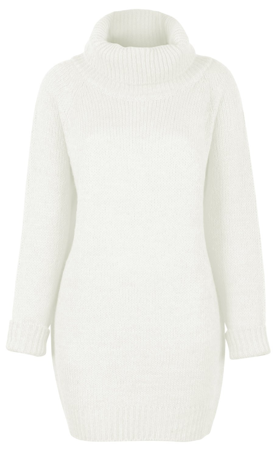 Women's Ribbed Knit Long Sleeve Loose Fit Turtleneck Tunic Sweater ...