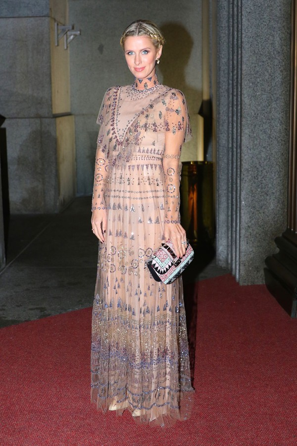 dress, nicky hilton, gown, clutch - Wheretoget