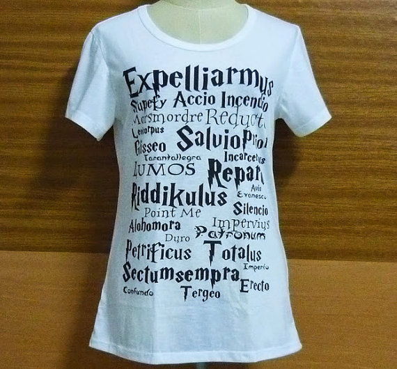 Sale shirt magic potter shortsleeve message tshirt size s m l xl message square harry potter clothing crew neck women t shirts