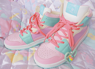shoes pastel pastel shoes girly pink light blue cute sportswear turquoise