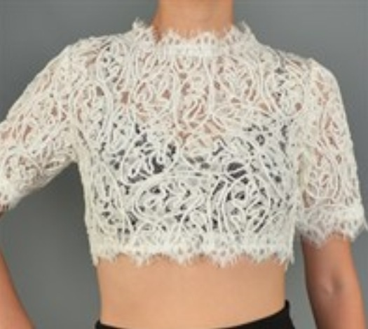 Modededicyy — white rope crop top
