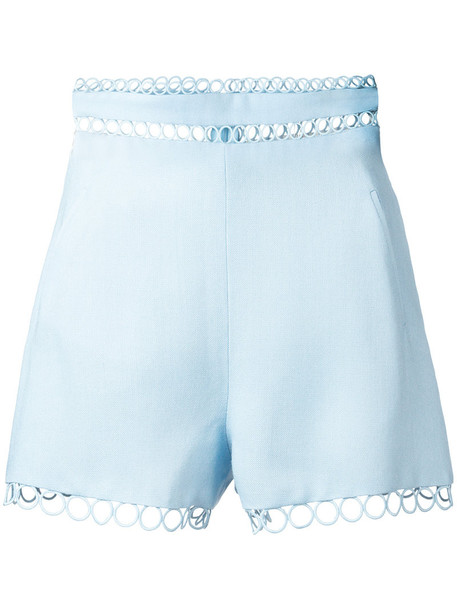 Zimmermann shorts women blue silk