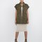 At ease army green military vest at flyjane
