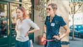 top,movie,lady bird,saoirse ronan,celebrity,white top,sunglasses,headphones