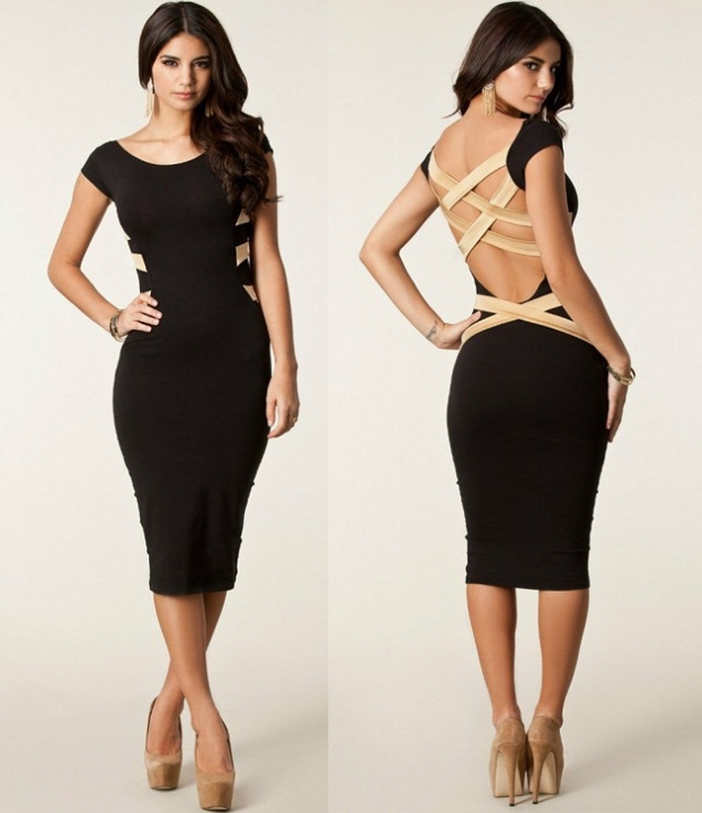 Sexy backless dress b / melodyclothing