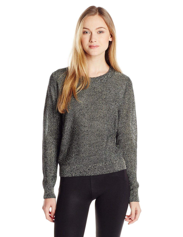 Parker women's khal metallic keyhole back sweater at amazon women's clothing store: