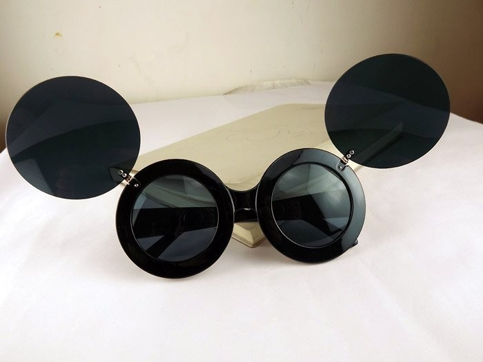 New Sunglasses Lady Mickey Mouse Gaga Paparazzi Flip Up Shades Super Star Black | eBay