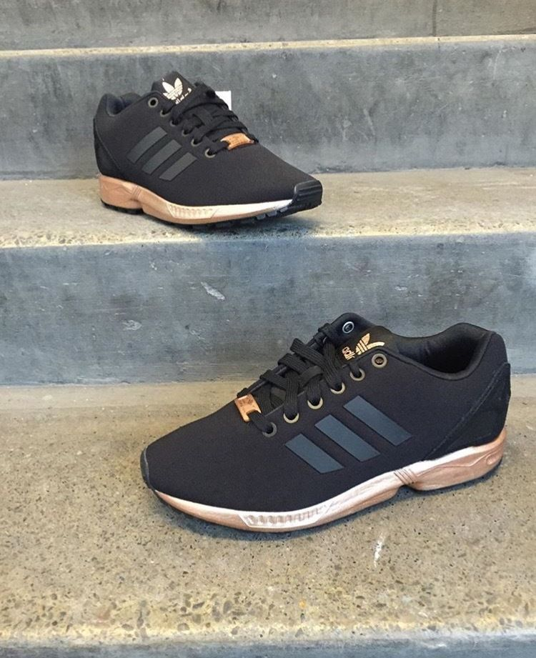 timeless design c4bb1 91b8a Adidas ZX Flux W Light Copper Metallic Bronze Rose Gold Size UK 4 5 6 7 8 9  New