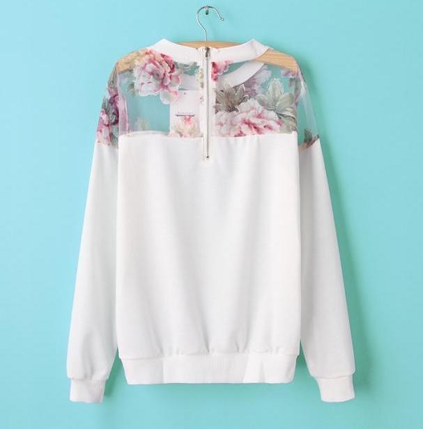 Floral Printed Sweatshirt