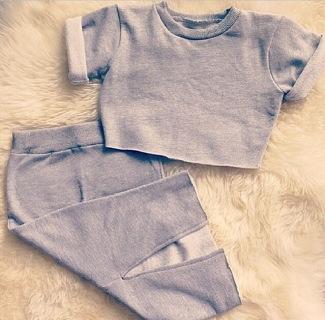 Adorniry grey two piece / fashjonn