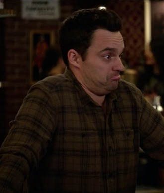 shirt new girl plaid menswear nick miller jake johnson