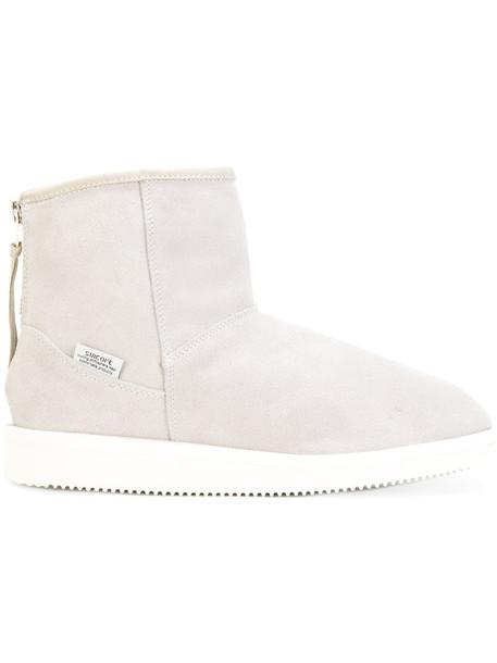 Suicoke women suede grey shoes