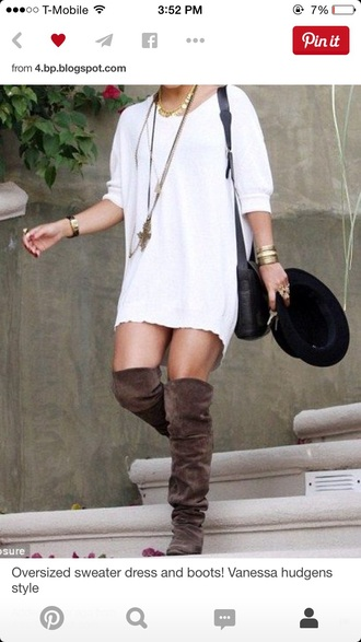 dress vanessa hudgens white dress sweater dress