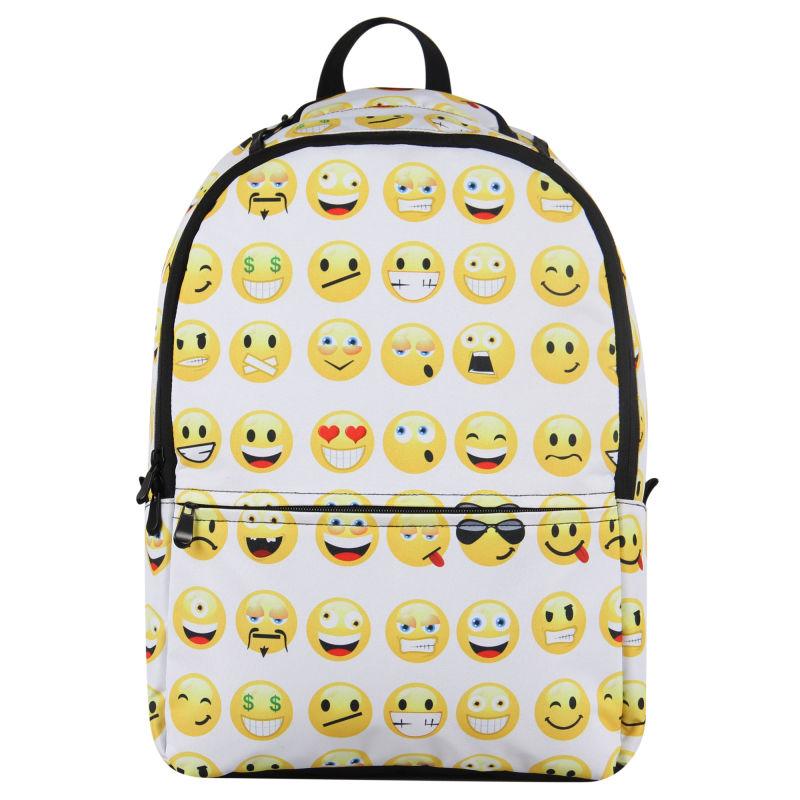 Backpack Smiley Mood Day Pack Women Backpack Boy Girls Book Bag ...