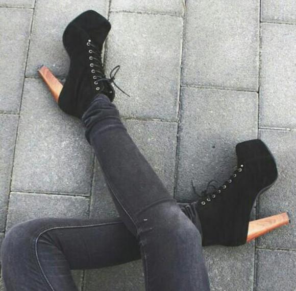 high heels jeffrey campbell tights