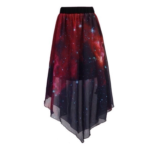 skirt tumblr galaxy print