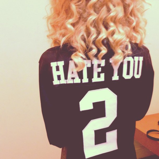 shirt jersey black black and white hate you 2 sweater black t-shirt number shirt
