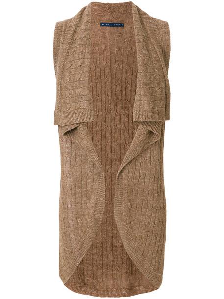 cardigan knitted cardigan cardigan sleeveless women brown sweater