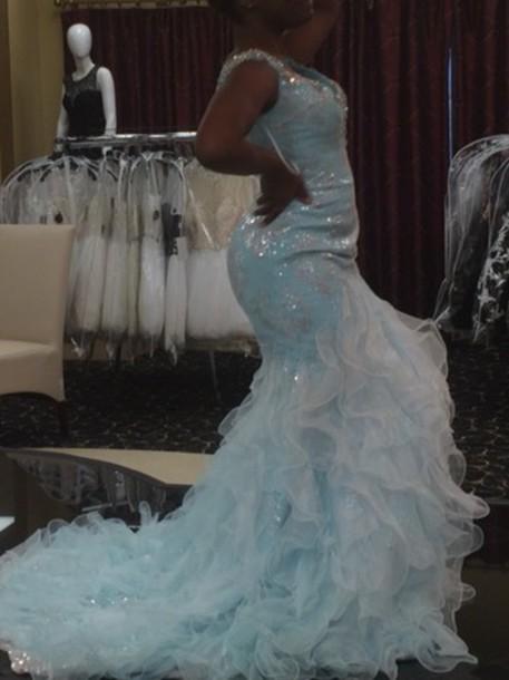 dress light blue cinderella gowns