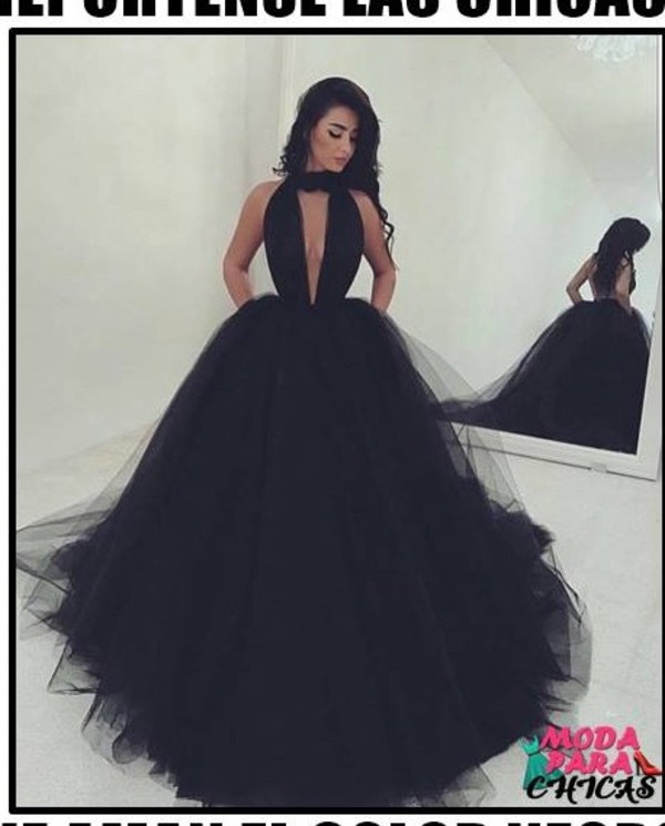 dress where can i get this dress from black dress black poofy dress clothes puffy dress long dress special occasion dress prom dress princess dress beautiful v neck dress wedding wedding clothes formal dress choker necklace sexy v-neck dress ball gown dress choker dress pretty gorgeous prom open back prom dress cute floral wavy long clevage black prom dress white queen puffy black long dress