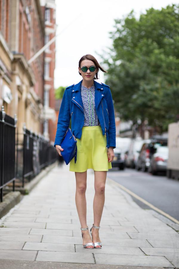 la petite anglaise jacket skirt bag shoes sunglasses